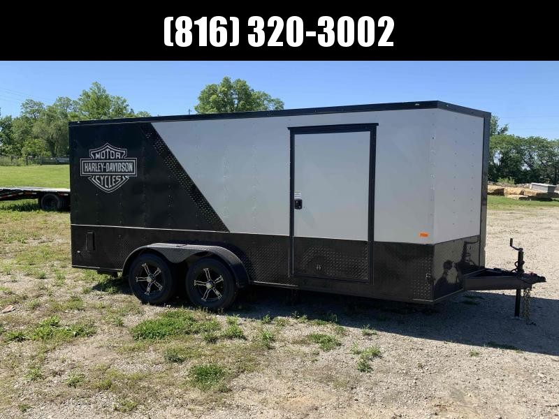 """2021 ROCK SOLID 7 X 16 X 6'3"""" ENCLOSED CARGO TRAILER W/ MOTORCYCLE PACKAGE"""