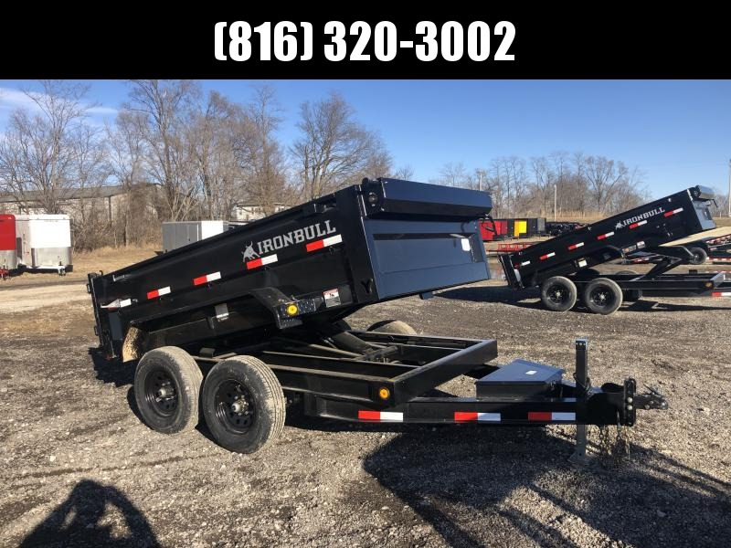 2021 IRON BULL 72X10 DUMP TRAILER W/ 52K AXLES