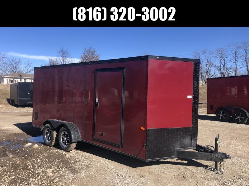 2021 ROCK SOLID 7 X 16 X 6.3 ENCLOSED CARGO TRAILER WITH BLACK TRIM PACKAGE