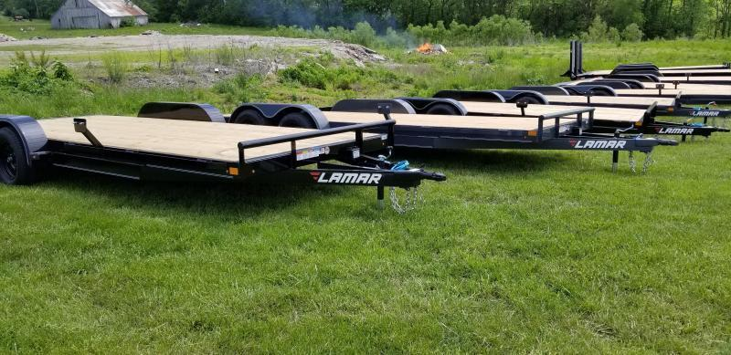 2020 LAMAR 83X16 EQUIPMENT TRAILER W/7K AXLES