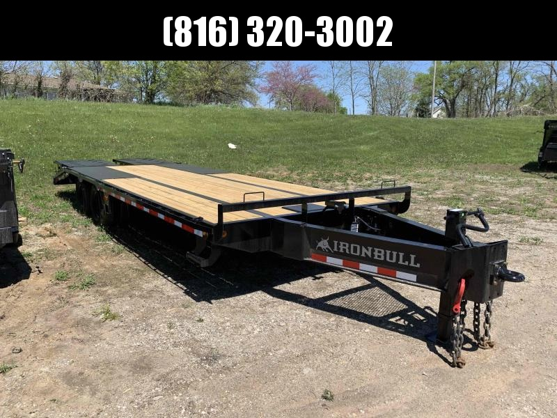 2021 IRON BULL 102X26 DECKOVER PINTLE EQUIPMENT HAULER TRAILER W/12K AXLES
