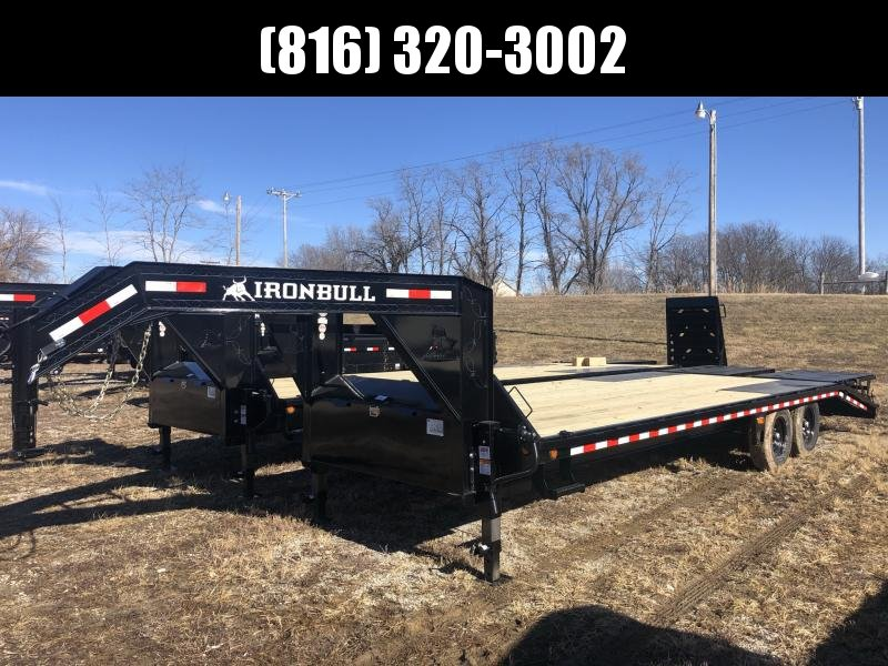 2021 IRON BULL 102x25 GOOSENECK DECKOVER EQUIPMENT HAULER TRAILER