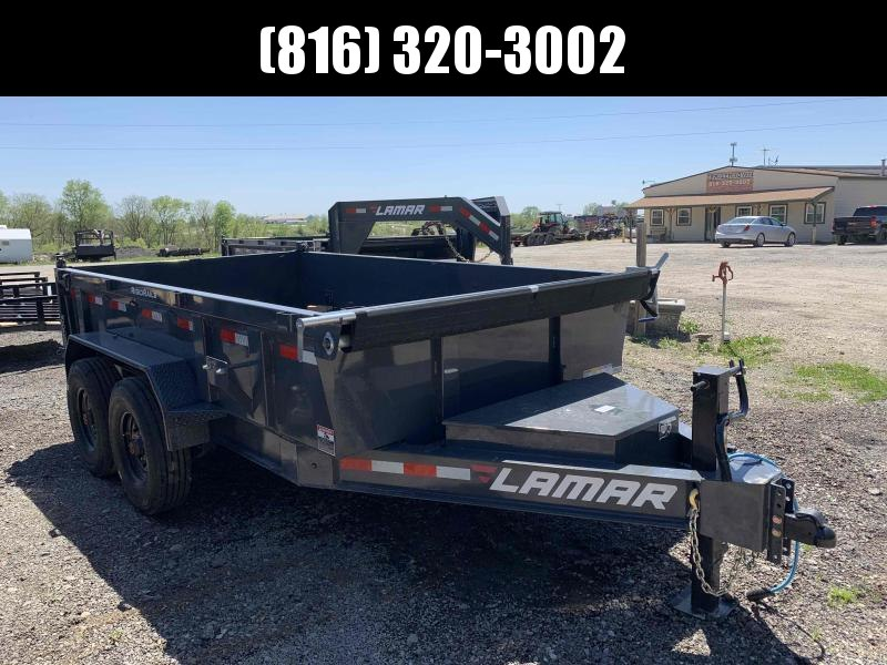 2021 LAMAR 83X12 DUMP LOPRO TRAILER W/ 8K OIL BATH AXLES AND 14 PLY TIRES