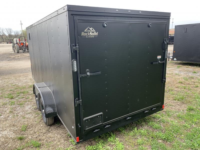 "2021 ROCK SOLID 7 X 16 X 6'3"" ENCLOSED CARGO TRAILER W/ BLACK TRIM PACKAGE"