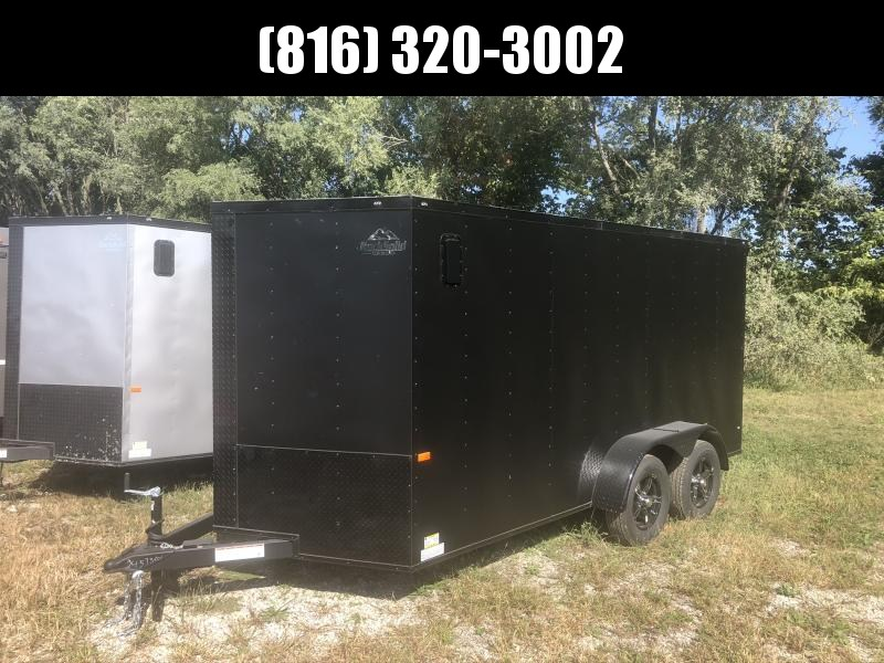 2021 ROCK SOLID 7 X 14 X 6.3 ENCLOSED CARGO TRAILER WITH BLACK TRIM PACKAGE