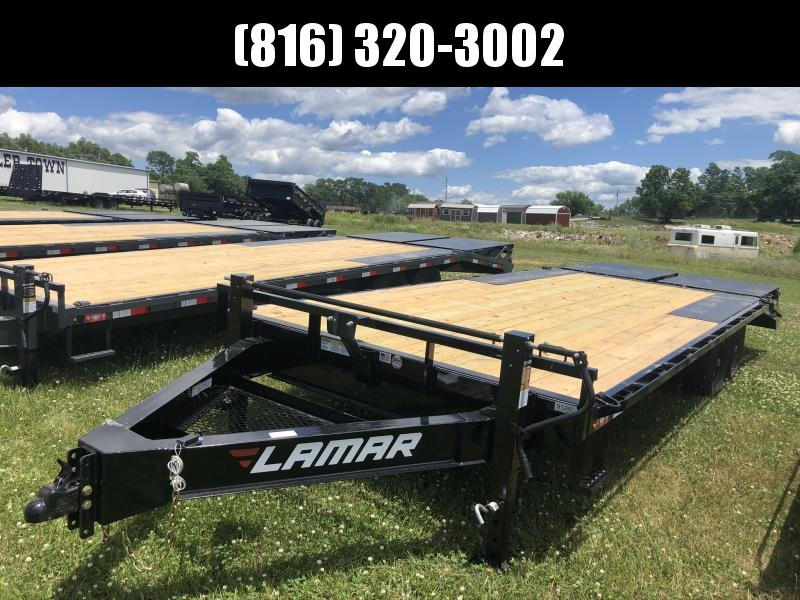 2020 LAMAR 102x22 DECKOVER EQUIPMENT TRAILER W/7K AXLES