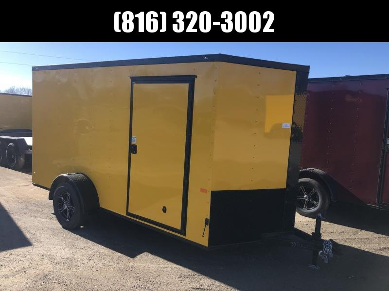 """2021 ROCK SOLID 6 X 12 X 6'3"""" ENCLOSED CARGO TRAILER WITH BLACK TRIM PACKAGE"""