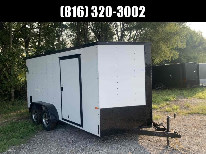 2022 ROCK SOLID 7 X 14 X 6.3 ENCLOSED CARGO TRAILER WITH BLACK TRIM PACKAGE
