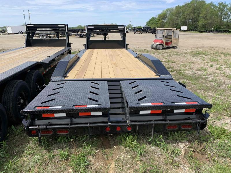 2021 IRON BULL 102 X 24 GOOSENECK EQUIPMENT TRAILER W/ DRIVE OVER FENDERS