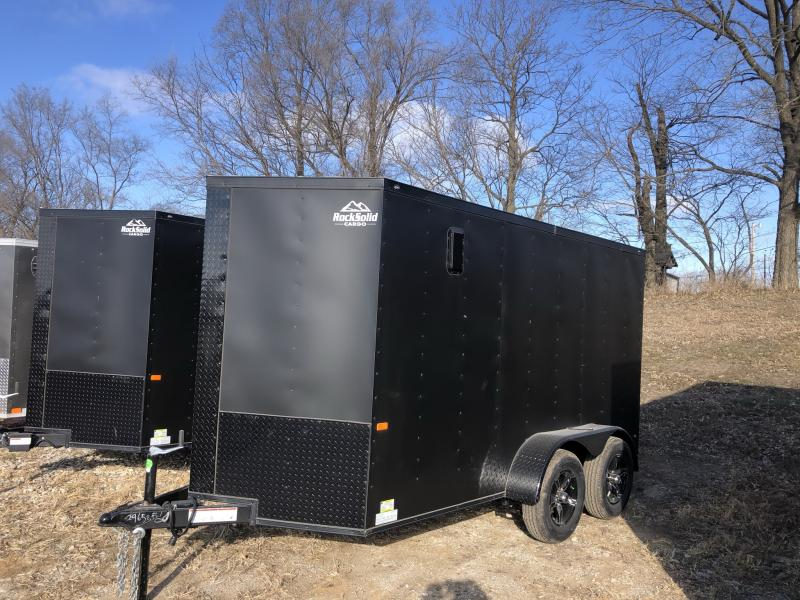 2021 ROCK SOLID 6 X 12 X 6'3 ENCLOSED CARGO TRAILER W/BLACK TRIM PACKAGE