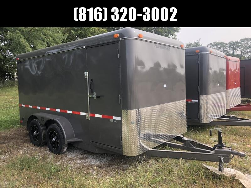2020 PERFORMANCE 7 X 14 X 6.5 ENCLOSED CARGO TRAILER W/ STEEL SIDES