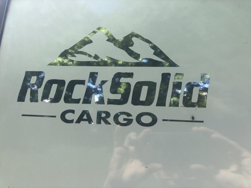 2020 ROCK SOLID 7 X 14 X 6.3 ENCLOSED CARGO TRAILER WITH BLACK TRIM PACKAGE