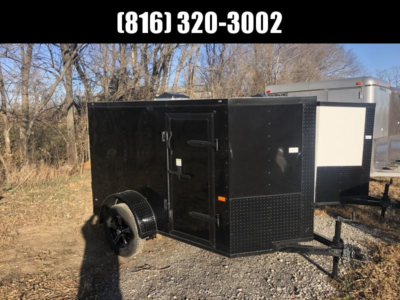 2021 ROCK SOLID 5 X 8 X 5 ENCLOSED CARGO TRAILER W/ BLACK TRIM PACKAGE