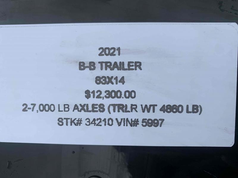 2021 B-B 83X14 HEAVY DUTY DUMP TRAILER