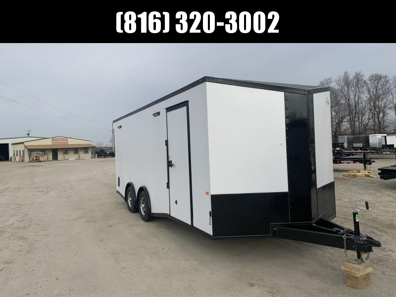 2021 ROCK SOLID 8.5 X 20 X 7 DELUXE ENCLOSED CARGO TRAILER W/ BLACK TRIM PACKAGE