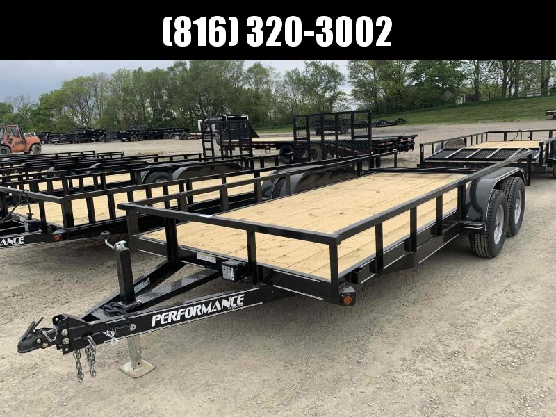 2021 PERFORMANCE 83 x 18 UTILITY TRAILER W/ 52K AXLES
