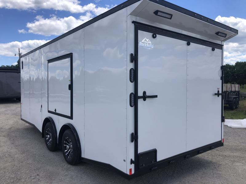 2020 ROCK SOLID 8.5 X 20 X 7 ENCLOSED CARGO TRAILER WITH BLACK TRIM PACKAGE
