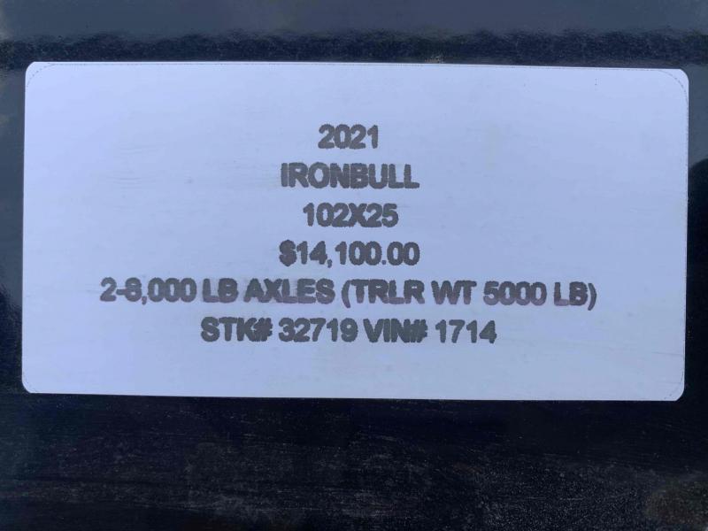 2021 IRON BULL 102X25 GOOSENECK DECK OVER FLAT BED TRAILER W/ 8K AXLES
