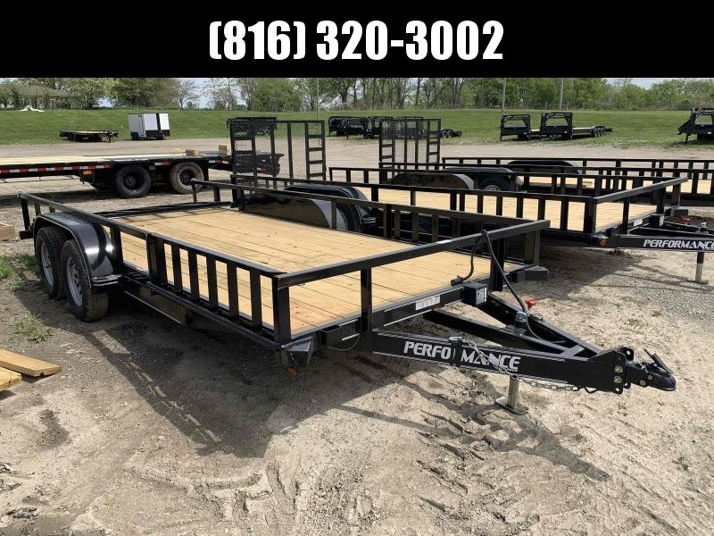 2021 PERFORMANCE 83 x 18 UTILITY TRAILER W/ 2' DOVE TAIL