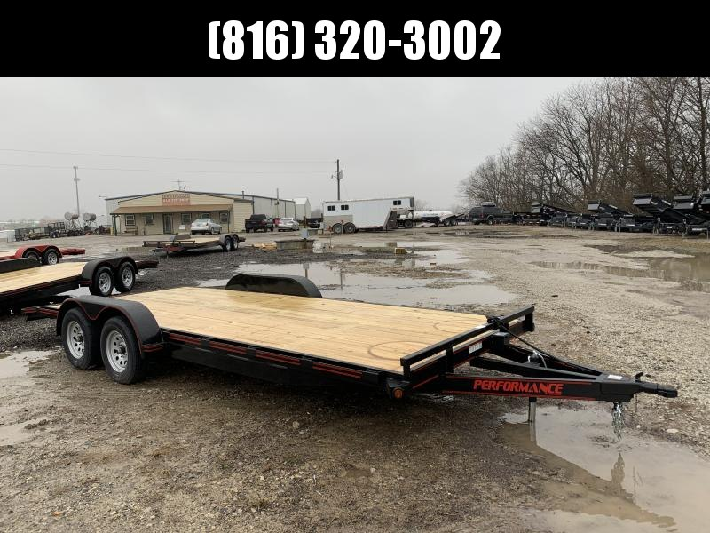 2021 PERFORMANCE 83 x 20 EQUIPMENT TRAILER W/ 2' DOVE TAIL