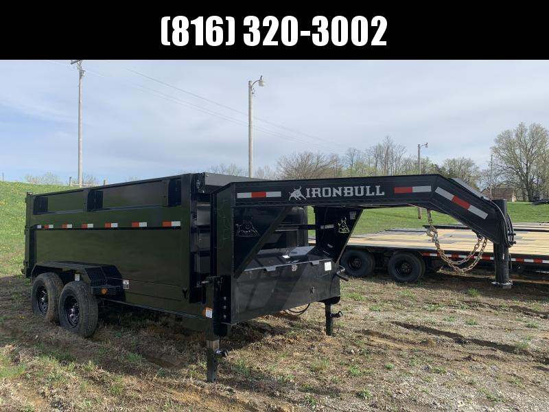 "2021 IRON BULL 83X14 GOOSENECK DUMP TRAILER W/ 48"" SIDES AND 14 PLY TIRES"