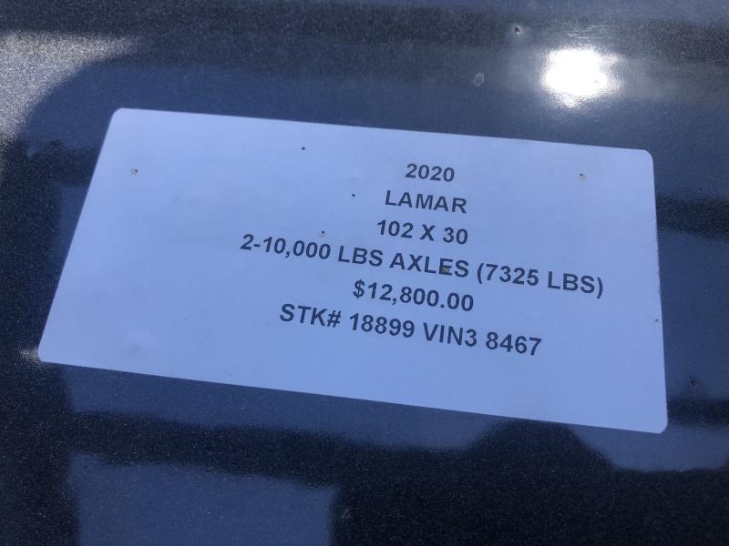 2020 LAMAR 102X30 GOOSENECK DECKOVER FLATBED LOPRO TRAILER W/10K AXLES