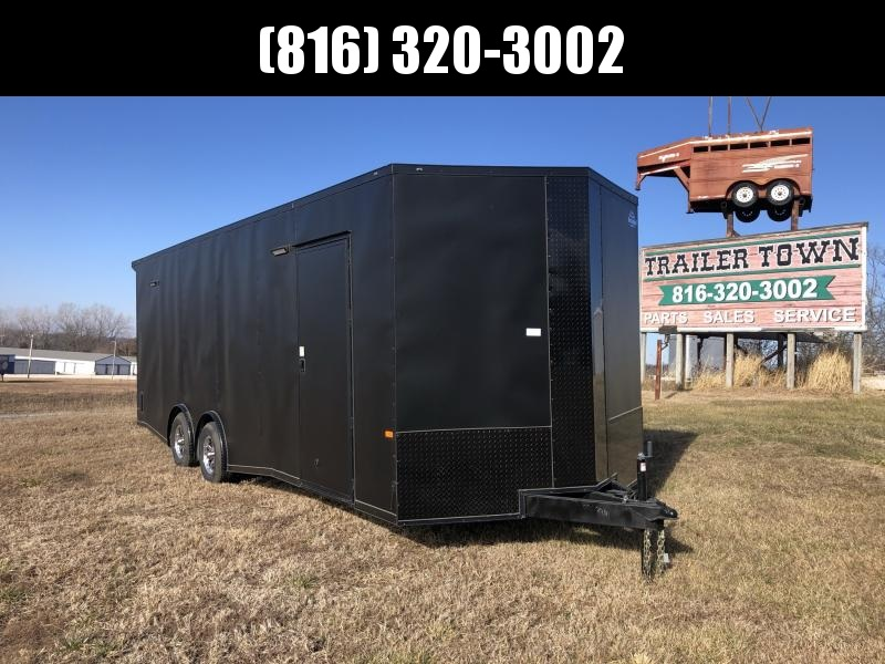 2021 ROCK SOLID 8.5 X 24 X 7 DELUXE ENCLOSED CARGO TRAILER WITH BLACK TRIM PACKAGE