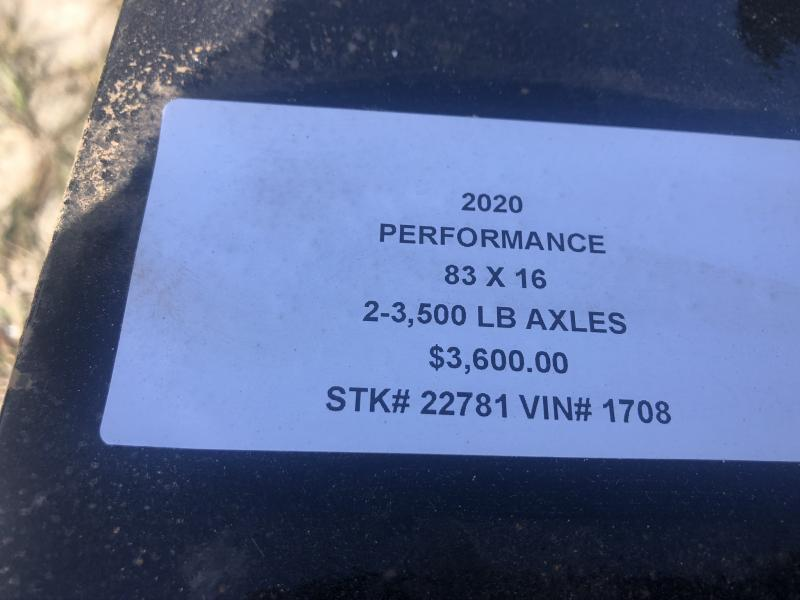 2020 PERFORMANCE 83 x 16 UTILITY TRAILER