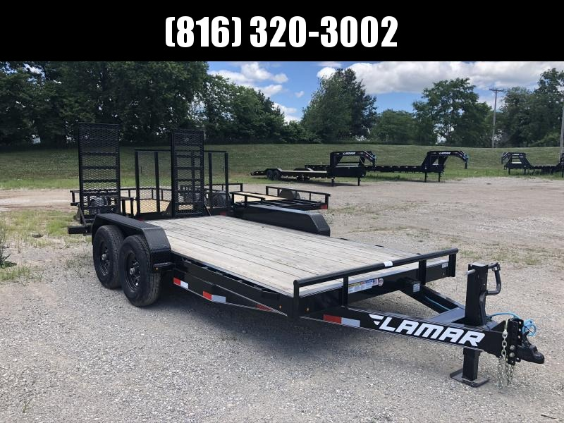2020 LAMAR 83X18 EQUIPMENT HAULER TRAILER W/ 7K AXLES