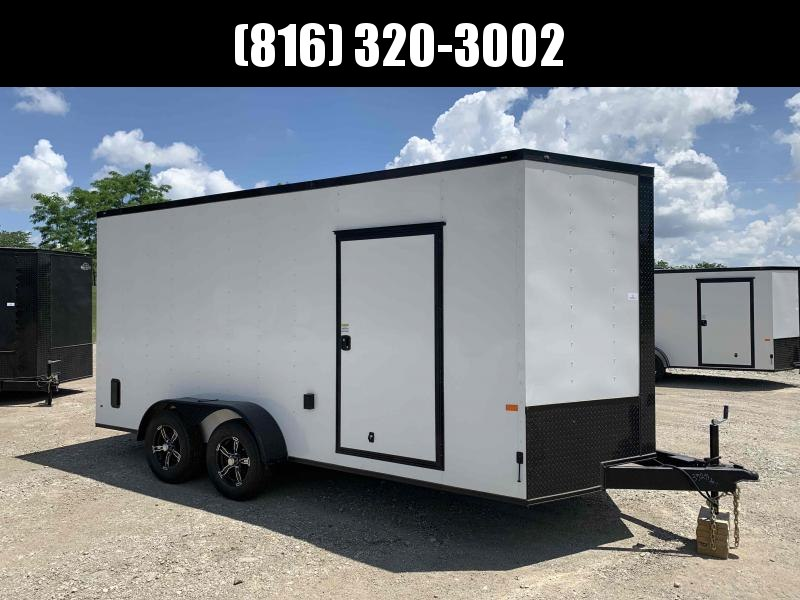 2021 ROCK SOLID 7 X 16 X 7 ENCLOSED CARGO TRAILER WITH A/C UNIT