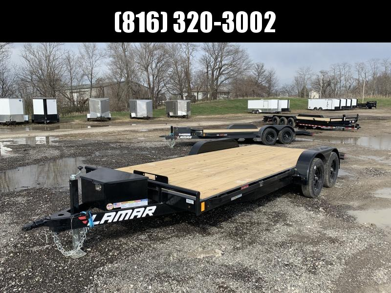 2021 LAMAR 83X18 EQUIPMENT HAULER TRAILER W/ 2' DOVE TAIL