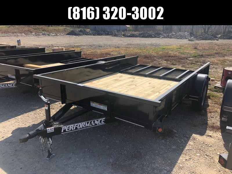2020 PERFORMANCE 83 x 12 UTILITY TRAILER W/ SOLID METAL SIDES