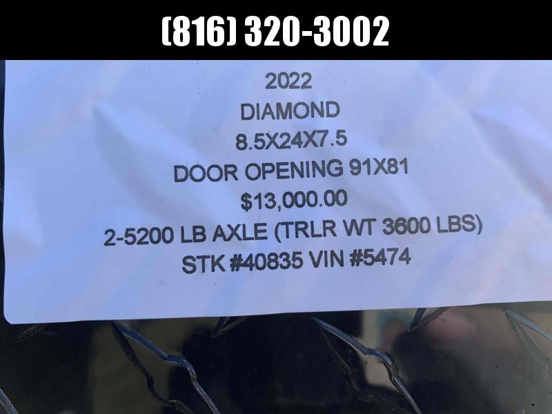 2022 DIAMOND 8.5 X 24 X 7.5 ENCLOSED CARGO TRAILER