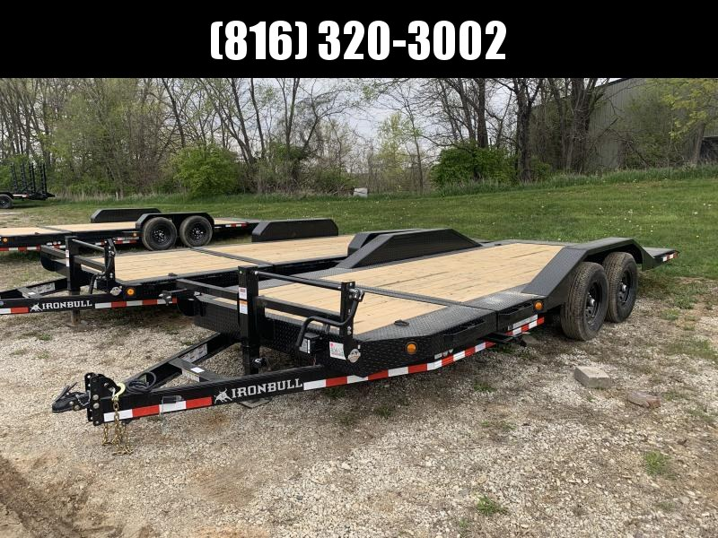 2021 IRON BULL 102X22 TILT LOPRO EQUIPMENT HAULER TRAILER