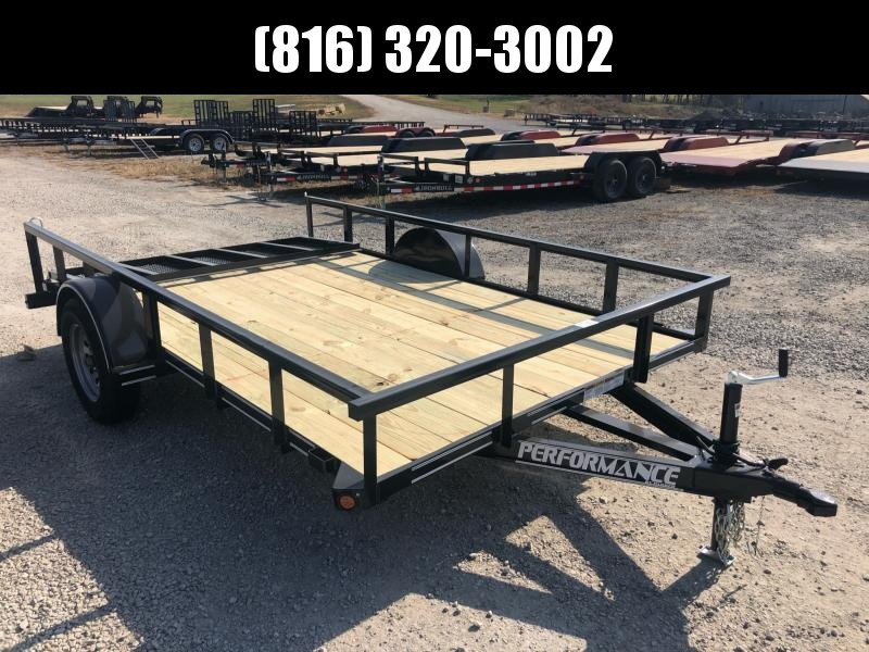 2020 PERFORMANCE 83 x 12 UTILITY TRAILER W/ 2' DOVE TAIL