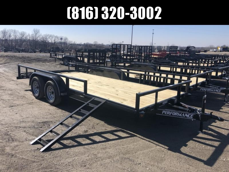 2020 PERFORMANCE 83 x 18 UTILITY TRAILER W/ 2' DOVE TAIL