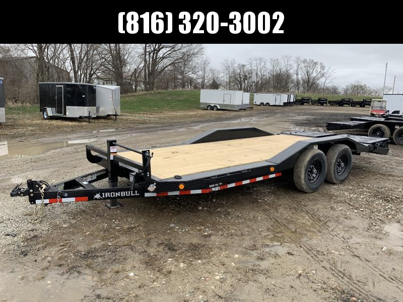 2021 IRON BULL 102X20 EQUIPMENT HAULER TRAILER W/ DRIVE OVER FENDERS