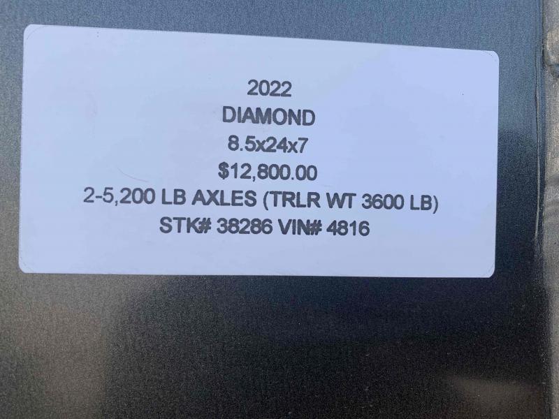 2022 DIAMOND 8.5 X 24 X 7 ENCLOSED CARGO TRAILER