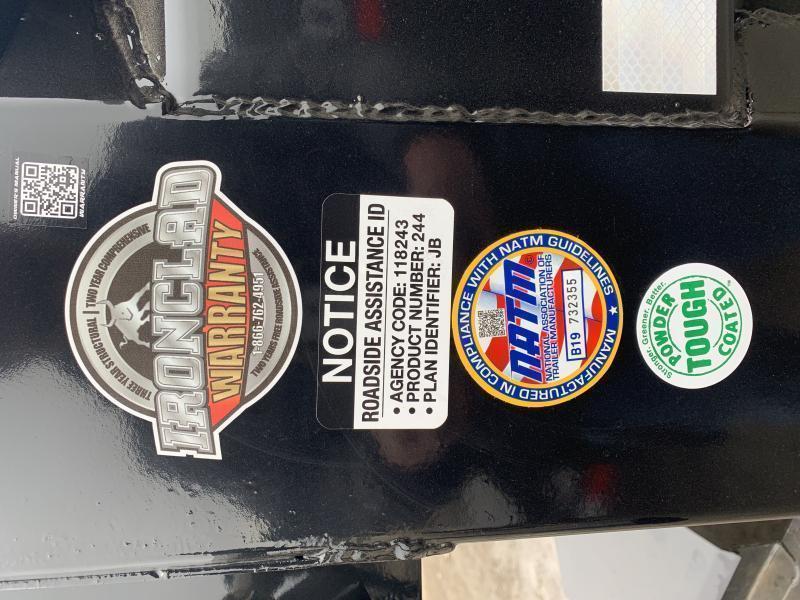 "2021 IRON BULL 83X14 DUMP TRAILER W/ 36"" SIDES"