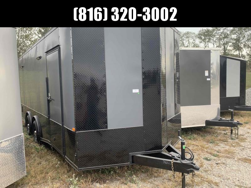2022 ROCK SOLID 8.5 X 20 X 7.5 DELUXE ENCLOSED CARGO TRAILER W/ BLACK TRIM PACKAGE