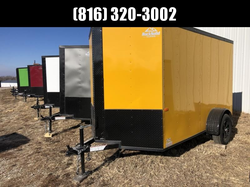 2021 ROCK SOLID 6 X 10 X 6 ENCLOSED CARGO TRAILER WITH BLACK TRIM PACKAGE