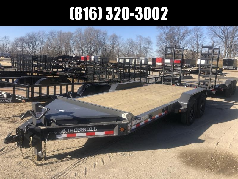 2021 IRON BULL 83X18 EQUIPMENT HAULER TRAILER W/ 7K AXLES