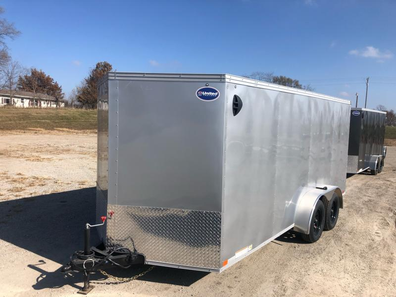 2021 UNITED 7x16x6 ENCLOSED CARGO TRAILER