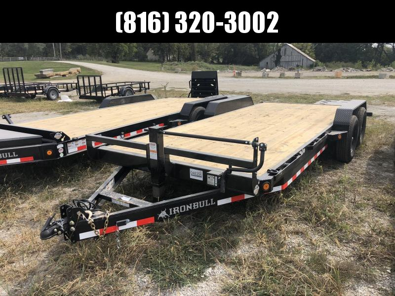 2021 IRON BULL 83X20 EQUIPMENT HAULER TRAILER W/ 3' DOVE TAIL
