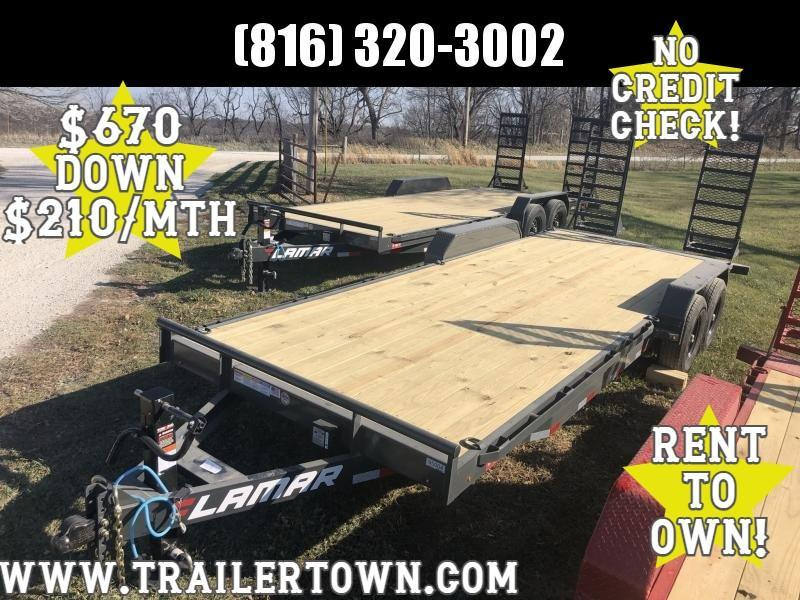 2021 LAMAR 83X22 EQUIPMENT HAULER TRAILER W/ 7K AXLES