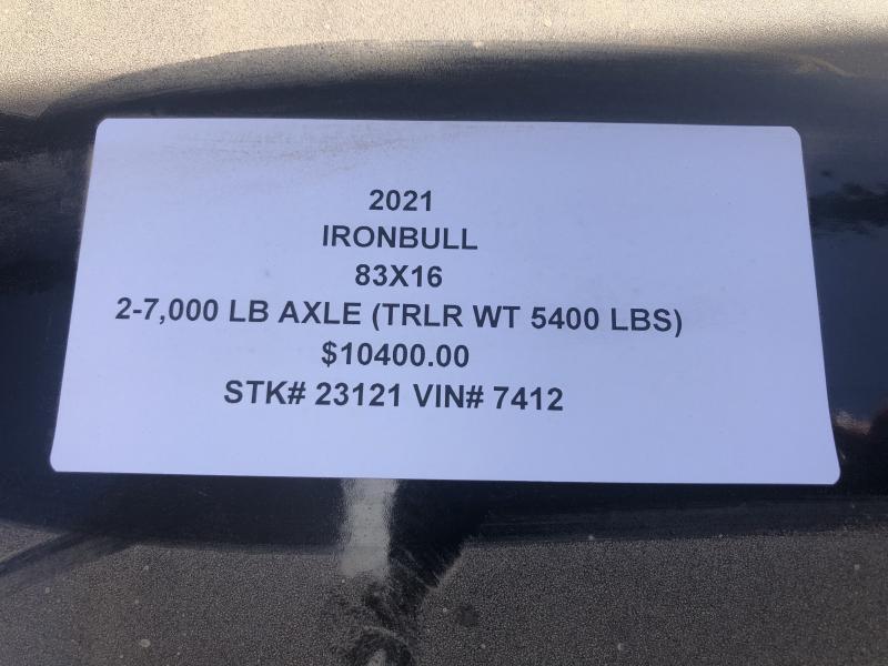 2021 IRON BULL 83X16 GOOSENECK LOPRO DUMP TRAILER