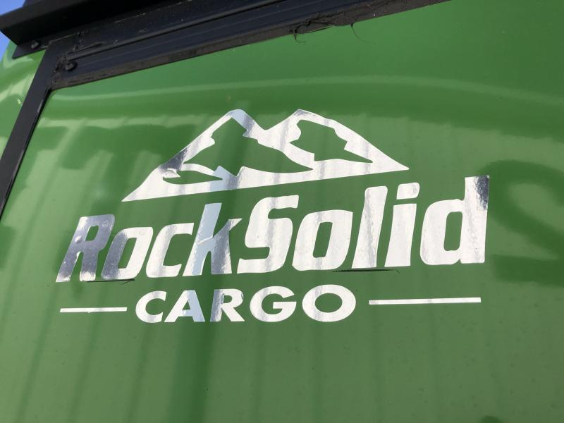 2021 ROCK SOLID 7 X 16 X 6.3 ENCLOSED CARGO TRAILER IN JOHN DEERE GREEN