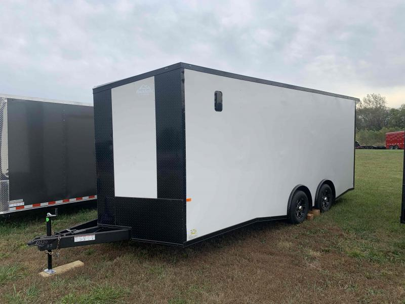 2022 ROCK SOLID 8.5 X 20 X 7.5 DELUXE ENCLOSED CARGO TRAILER W/ BLACK TRIM PACKAGE AND A/C READY