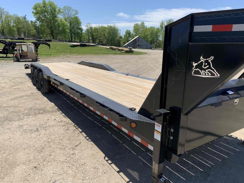 2021 IRON BULL 102 X 36 GOOSENECK EQUIPMENT TRAILER W/ TRIPLE AXLES AND DRIVE OVER FENDERS