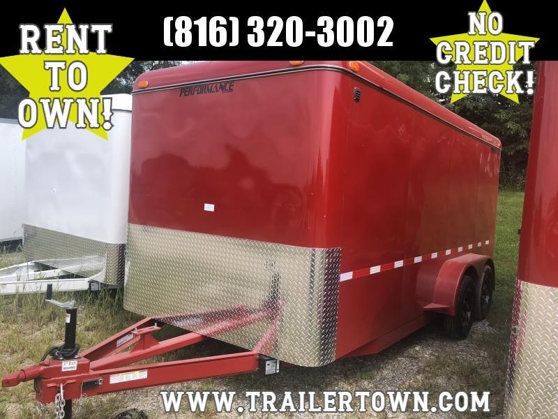 2020 PERFORMANCE 7 X 16 X 6.5 ENCLOSED CARGO TRAILER W/ STEEL SIDES